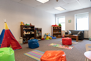 Children's play room at the Family Justice Center