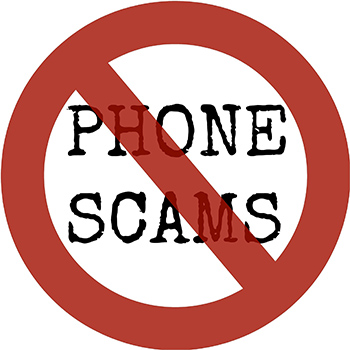 red don't sign over words Phone Scams