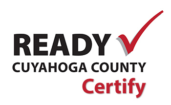 red check mark next to words Ready Cuyahoga County Certify