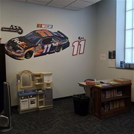 Play room at the Safe and Sound supervised visitation center.