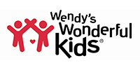 image of graphic of red bubble children with the words Wendy's Wonderful Kids to the right
