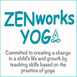 Zenworks Yoga logo in blue