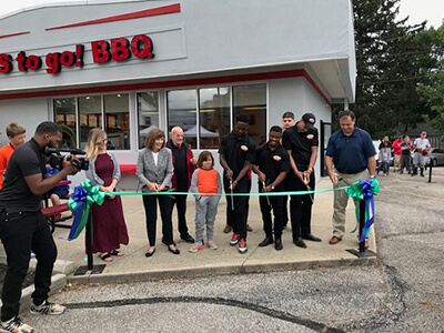 Sides to Go BBQ ribbon cutting ceremony